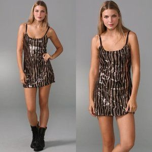 Free People Sequin Zebra Slip Dress Sz S NWOT